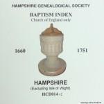 Baptism Index 1660 - 1751