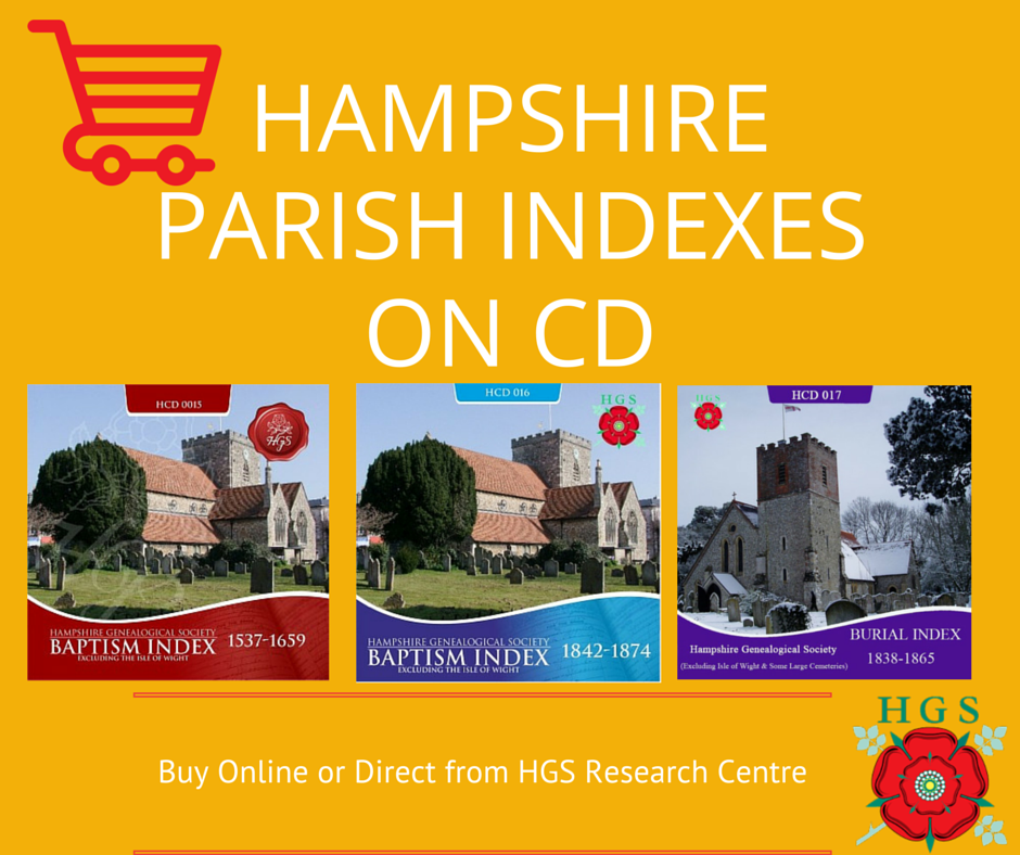 Hampshire Parish Indexes on CD