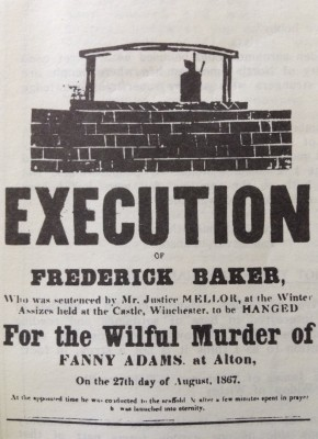 Notice of Frederick Baker's Execution