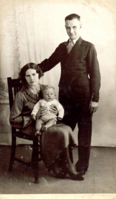 With my Parents in 1935