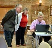 Paul Pinhorne carrying out family history internet research