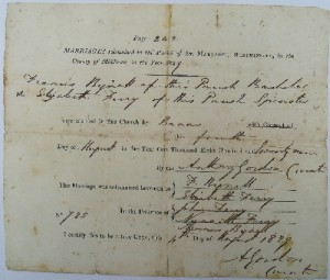1829 marriage certificate
