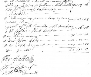 Extract from the inventory
