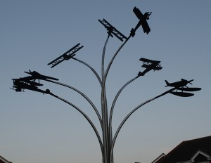Spitfire Statue at Hamble